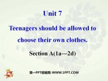 《Teenagers should be allowed to choose their own clothes》PPT�n件13