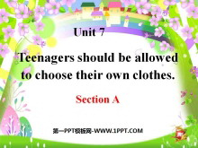《Teenagers should be allowed to choose their own clothes》PPT�n件15