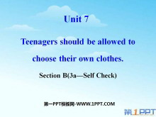 《Teenagers should be allowed to choose their own clothes》PPT�n件18