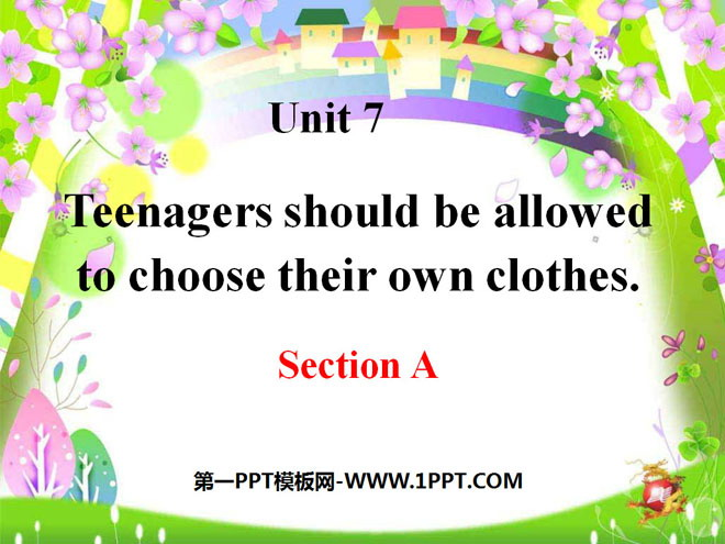 《Teenagers should be allowed to choose their own clothes》PPT课件15