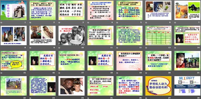 《梦想的力量》ppt课件7  默读课文,读通句子,画出生字词,想一想课文图片