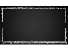 黑色粉笔黑板PPT边框素材