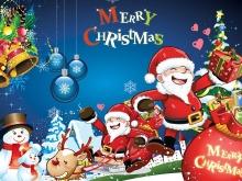 Merry Christmas圣诞老人圣诞节幻灯片背景图片