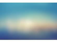 蓝色极光朦胧虚化模糊PPT背景图片