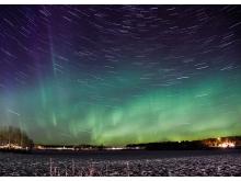 旋转的星空PowerPoint背景图片
