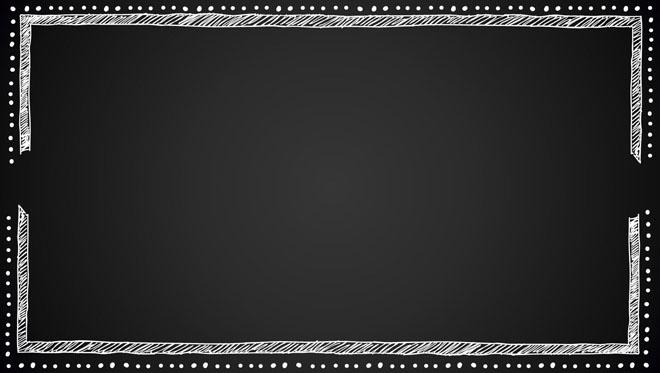 黑色粉笔黑板ppt边框素材图片