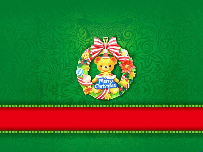 Merry Christmas圣诞节PPT背景图片