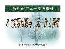 《实际问题与二元一次方程组》二元一次方程组PPT课件5