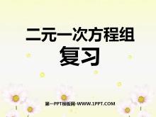 《复习》二元一次方程组PPT课件