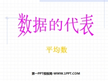 《数据的代表》数据的分析PPT课件3