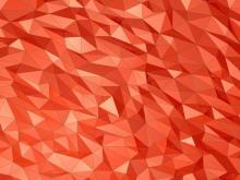 红色多边形PowerPoint背景图片