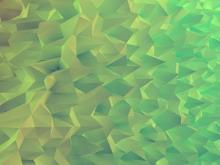 绿色3d质感多边形PowerPoint背景图片