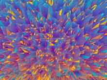 紫罗兰多边形PPT背景图片