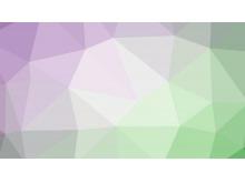 淡雅紫色绿色相间的多边形PPT背景图片