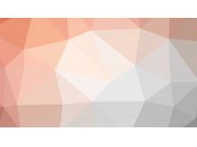 淡雅橙色褐色相间的多边形PPT背景图片