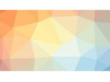 橙色蓝色相间的多边形必发88背景图片