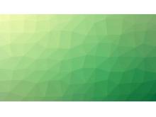 生机盎然的绿色多边形PPT背景图片