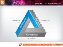 �{色三角形循�hPowerPoint�D表下�d