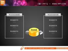 黄色综合关系PPT图表tt娱乐官网平台