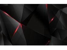 黑色炫酷科技感多边形PPT背景图片
