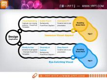 两张横向扩散关系PowerPoint图表模板