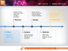 简洁线条PPT流程图模板下载