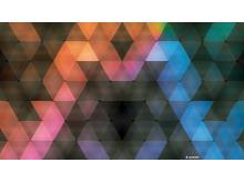 炫彩菱形PPT背景图片