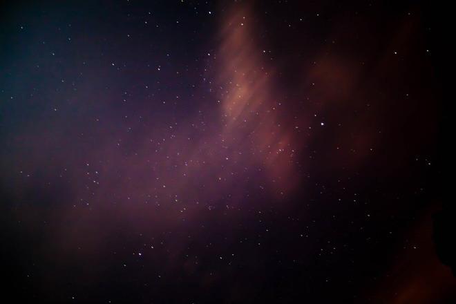 紫色星空簡潔ppt背景圖片