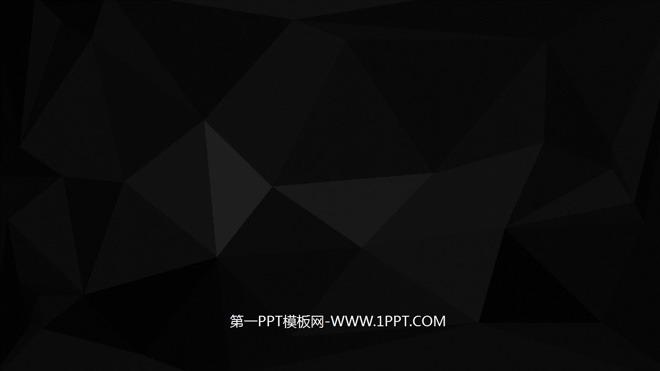 一张黑色三角形PPT背景图片.第一PPT模板网提供幻灯片背景图片