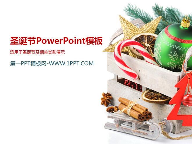 简洁圣诞彩球背景幻灯片模板下载