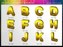 26个英文字母PPT图标素材下载