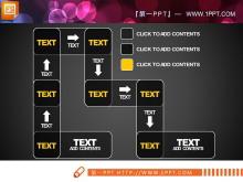 迂回构造的PPT流程图素材
