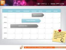 淡雅商务配色的甘特图PPT图表下载