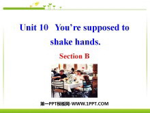 《You are supposed to shake hands》PPT课件6