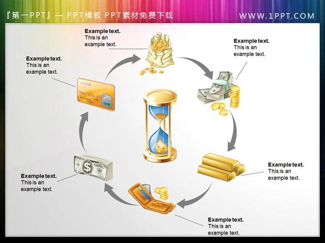 15张精美金币金融相关的PPT图表素材下载