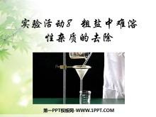 《粗盐中难溶性杂质的去除》盐化肥PPT课件2