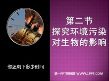 《探究�h境污染�ι�物的影�》人�活��ι�物圈的影�PPT�n件5