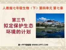 《拟定保护生态环境的计划》人类活动对生物圈的影响PPT课件