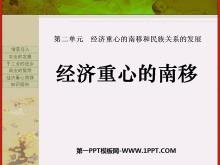 《���重心的南移》���重心的南移和民族�P系的�l展PPT�n件2