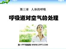 《呼吸道对空气的处理》人体的呼吸PPT课件4