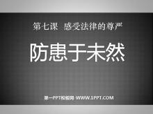 《防患于未然》感受法律的尊严PPT课件3