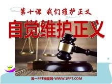 《自觉维护正义》我们维护正义PPT课件2