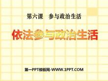 《依法参与政治生活》参与政治生活PPT课件