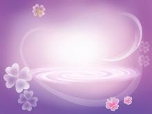 紫色抽象背景点缀花型明升体育图片