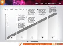 三张阶梯层级关系PPT图表打包下载