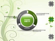 淡雅绿色花藤艺术PPT模板下载