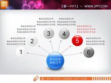 蓝色立体实用PPT图表整套下载