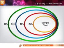 彩色圆环包含层级关系幻灯片图表