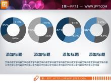 蓝色简洁扁平化PPT图表整套下载
