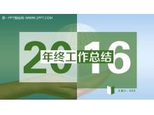 动态绿色工作总结幻灯片模板